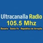 Logo da emissora Ultracanalla Radio 105.5 FM