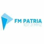 Logo da emissora Radio Patria 107.3 FM