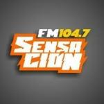 Logo da emissora Radio Sensación 104.7 FM