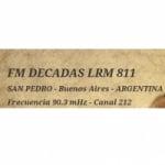 Logo da emissora Radio Decadas 90.3 FM