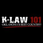 Logo da emissora KLAW 101.3 FM