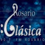 Logo da emissora Radio Rosario Clásica 90.7 FM