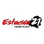 Logo da emissora Radio Estación 21 90.9 FM