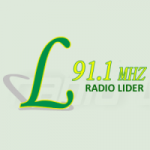 Logo da emissora Radio Líder  91.1 FM