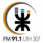 Logo da emissora Radio Universidad 91.1 FM