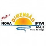 Logo da emissora Rádio Nova Dimensão 104.9 FM