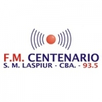 Logo da emissora Radio Centenario 93.5 FM
