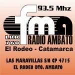 Logo da emissora Radio Ambato 93.5 FM