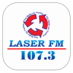 Logo da emissora Radio Laser 107.3 FM