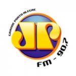 Logo da emissora Rádio Jovem Pan 90.7 FM