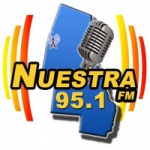 Logo da emissora Radio Nuestra 95.1 FM