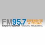 Logo da emissora Radio Cristiana 95.7 FM