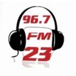 Logo da emissora Radio 23 96.7 FM