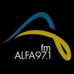 Logo da emissora Radio Alfa 97.1 FM