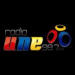 Logo da emissora Radio Une 98.7 FM