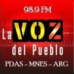 Logo da emissora Radio La Voz del Pueblo 98.9 FM