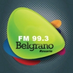 Logo da emissora Radio Belgrano 99.3 FM