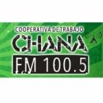 Logo da emissora Radio Cooperativa Chaná 100.5 FM