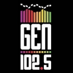 Logo da emissora Radio Gen 102.5 FM