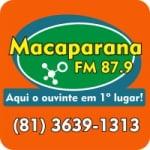 Logo da emissora Rádio Macaparana 87.9 FM