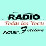 Logo da emissora Radio Todas Las Voces 103.7 FM