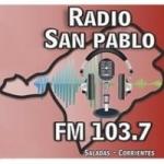 Logo da emissora Radio San Pablo 103.7 FM
