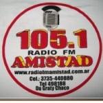 Logo da emissora Radio Amistad 105.1 FM