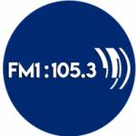 Logo da emissora Radio FM1 105.3 FM
