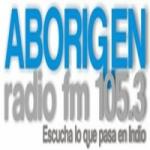 Logo da emissora Radio Aborigen 105.3 FM