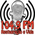 Logo da emissora Rádio Restauração e Vida 104.9 FM