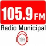Logo da emissora Radio Municipal 105.9 FM