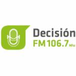 Logo da emissora Radio Decisión 106.7 FM