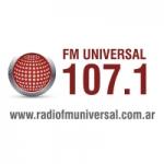 Logo da emissora Radio Universal 107.1
