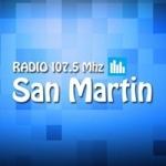 Logo da emissora Radio San Martín 107.5 FM