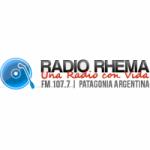 Logo da emissora Radio Rhema 107.7 FM