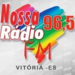 Logo da emissora Rádio Nossa Rádio Vitória 96.5 FM