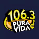 Logo da emissora Radio Pura Vida 106.3 FM