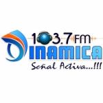 Logo da emissora Radio Dinamica 103.7 FM