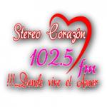 Logo da emissora Radio Stereo Corazón 102.5 FM