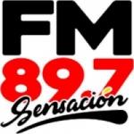 Logo da emissora Radio Sensación 89.7 FM