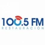 Logo da emissora Radio Restauración 100.5 FM