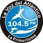 Logo da emissora Radio La Voz del Atlántico 104.5 FM