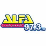 Logo da emissora Radio Alfa 97.3 FM
