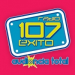 Logo da emissora Radio Exito 107 107.1 FM