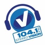 Logo da emissora Radio Stereo Vision 104.1 FM