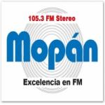 Logo da emissora Radio Mopan 105.3 FM
