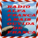 Logo da emissora Rádio Alfa Franca