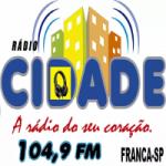 Logo da emissora Rádio Alfa Franca SP
