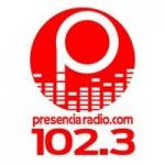 Logo da emissora Presencia Radio 102.3 FM