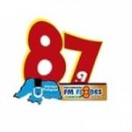 Logo da emissora Rádio Flores 87.9 FM